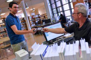 bureau de prêt, bibliothèque Belfort